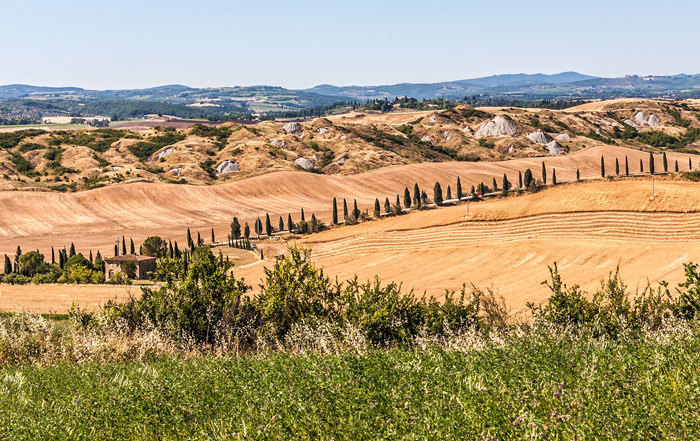 Touristic itinerary in Tuscany: In the hearth of the Chianti Valley and the Siena's lands clay rocks